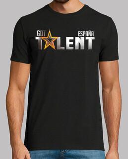 got talent españa - man, short sleeve, black, extra quality