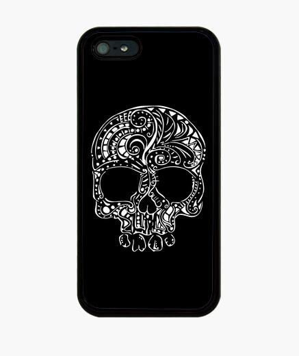 Funda iPhone gótico del cráneo del estilo del tatuaje tribal del iphone 5 casos