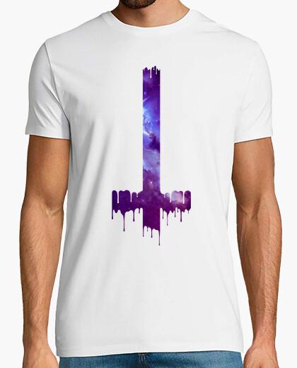 Tee-shirt gotico galaxie croix boho branchée