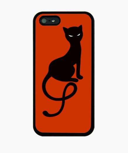 Funda iPhone graciosa gato negro mal