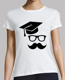 graduación bigote estudiante