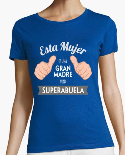 Camiseta Gran Madre y SuperAbuela (Fondo Oscuro)