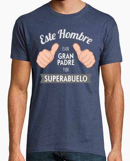 Camiseta Gran Padre y SuperAbuelo (Fondo Oscuro)