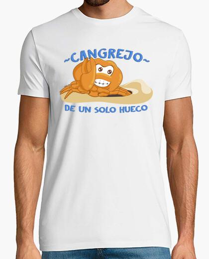 T-shirt granchio di una solo cava