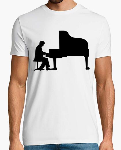 Tee-shirt grand piano pianiste