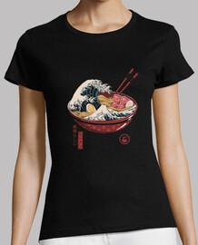 grande chemise de vague ramen femmes
