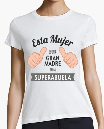 T-shirt grande mamma e superabuela (sfondo chiaro)
