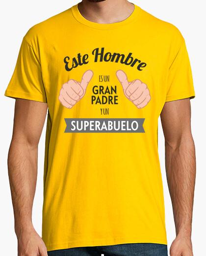 T-shirt grande padre e superabuelo (sfondo chiaro)