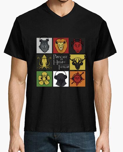 Camiseta GRANDES CASAS cuello V