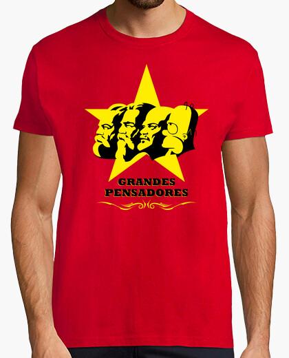 Camiseta Grandes Pensadores - Marx, Engels, Lenin y Homer