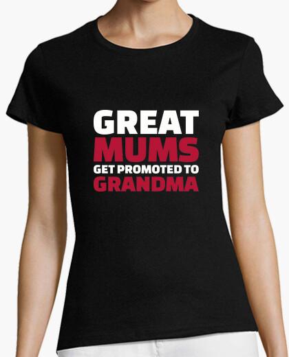 T-shirt grandi mamme vengono promosse a nonna