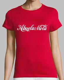grandma mole (logo coca-cola) de fond rouge
