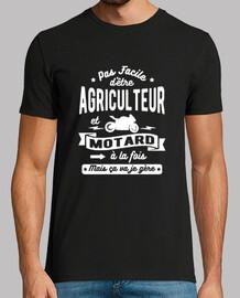 granjero y motorista