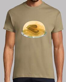 Grapadora en gelatina camiseta hombre