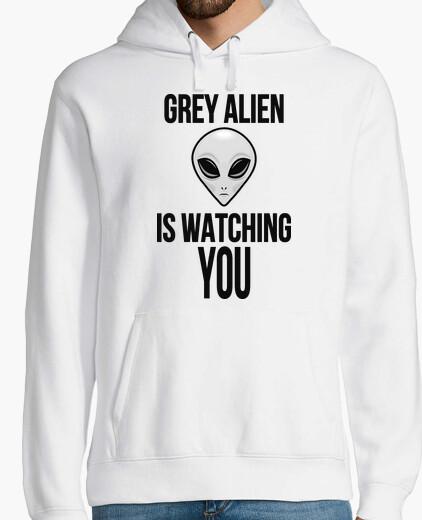 Hoodie grau alien