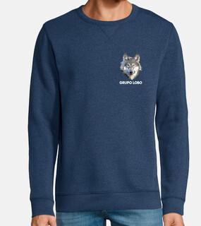 gray wolf, unisex sweatshirt