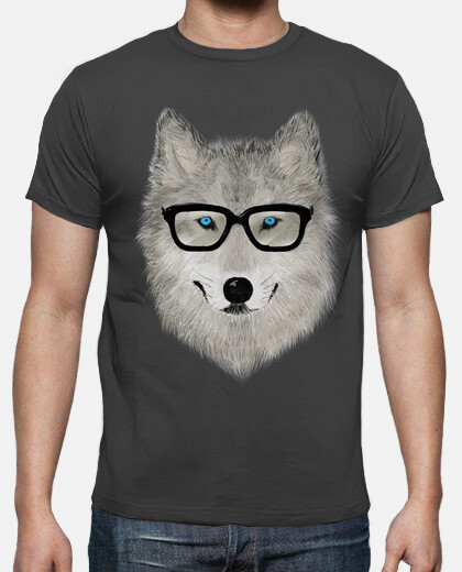 Gray Wolf with Glasses