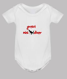 Great mini diver  - Body bebé, blanco