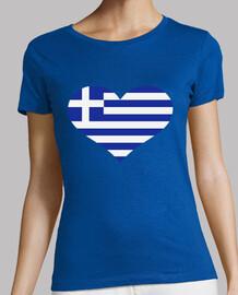 Greece flag heart