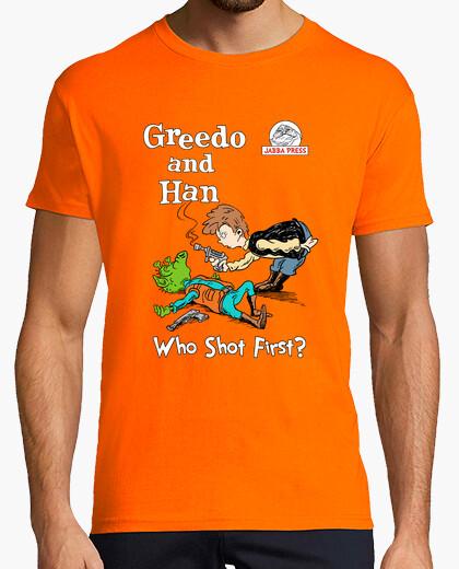 Camiseta greedo y de han parodia seuss