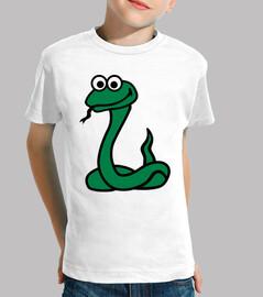 green comic snake
