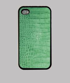 green crocodile leather