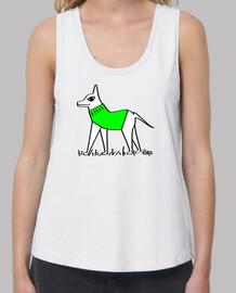 green dog dressed