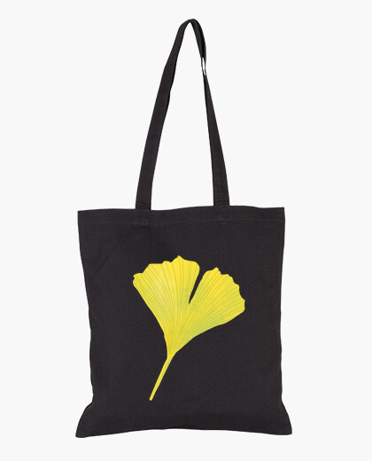 Green Ginkgo Leaf Digital Botanical Art bag