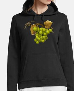 green grapes girl hooded sweatshirt
