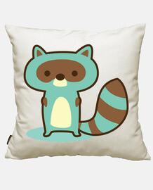 green raccoon