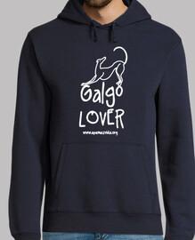 greyhound lover boy sweatshirt white letter