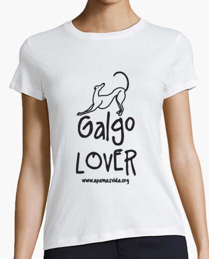 Greyhound lover girl black letter t-shirt