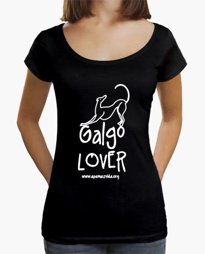 Greyhound lover white letter t-shirt