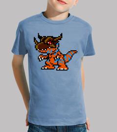 Greymon Digimon 8bit (Camiseta Niño)