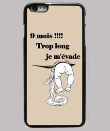 Grossesse Coque iPhone 6 plus, noire
