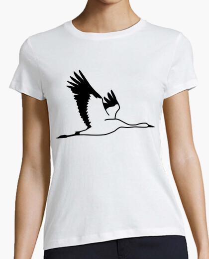 Tee-shirt grue oiseau