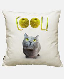 grünäugige katze glücklich - cool!