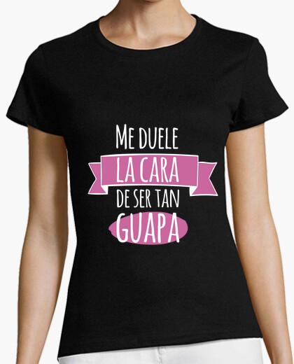 Camiseta Guapa! Mujer, manga corta, negra, calidad premium