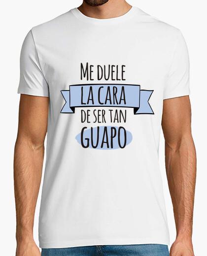 Camiseta Guapo! Hombre, manga corta, blanco, calidad extra