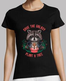 guardar la camisa para mujer de galaxias