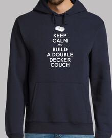 guarde la calma y construir un sofá con capucha para hombre