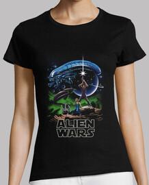 guerras alienígenas camisa para mujer