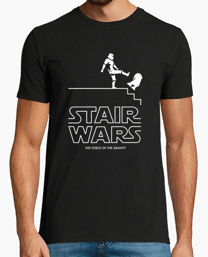 Camiseta guerras de escaleras - la fuerza de la gravedad