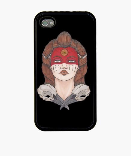 Funda iPhone Guerrera con cráneos de cuervo