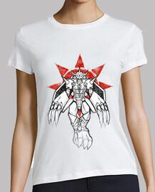 guerrero de la pintada de coraje camisa de la mujer