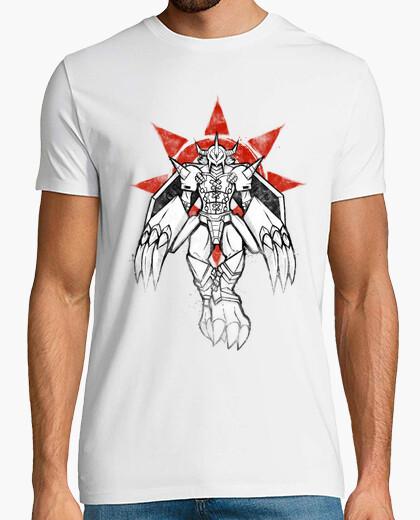 Camiseta guerrero de la pintada de coraje camisa para hombre