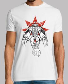 guerrero de la pintada de coraje camisa para hombre