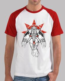 guerrero de la pintada de coraje camiseta de béisbol