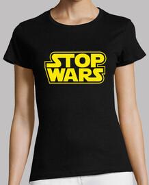 guerres d'arrêt (star wars) femme