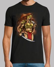 guerrier chemise dessins épées batailles